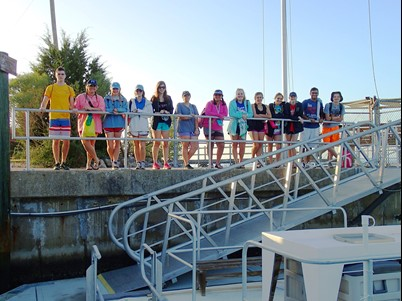 North Gwinnett High School students on the dock