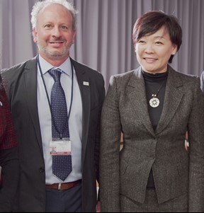 Mike with Japan's First Lady at her Tsunami and Seawalls Forum